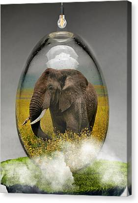 Elephants Canvas Print - Elephant Art by Marvin Blaine