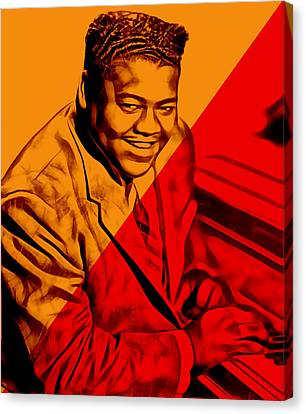 Music Canvas Print - Fats Domino Collection by Marvin Blaine