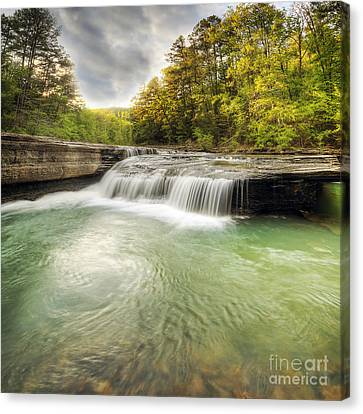 Haw Creek Falls Canvas Print by Twenty Two North Photography