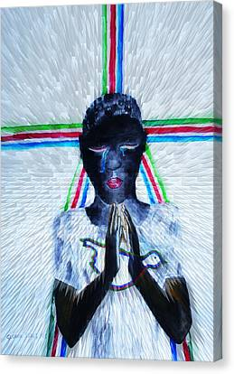 Hope For Peace In South Sudan Canvas Print by Gloria Ssali