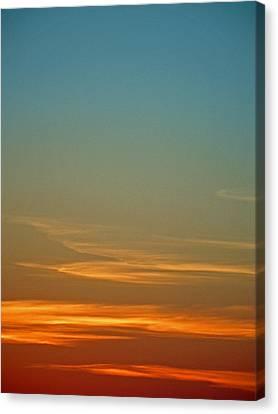 Huron Skies Canvas Print by Cyryn Fyrcyd