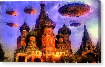 Invasion Earth Canvas Print by Raphael Terra