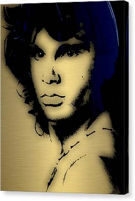 Jim Morrison Collection Canvas Print by Marvin Blaine