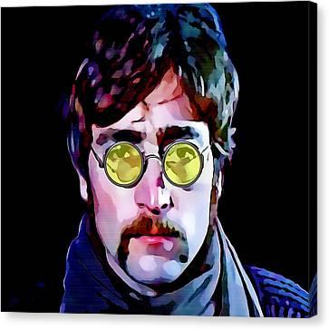 Rock And Roll Canvas Print - John Lennon by Marvin Blaine
