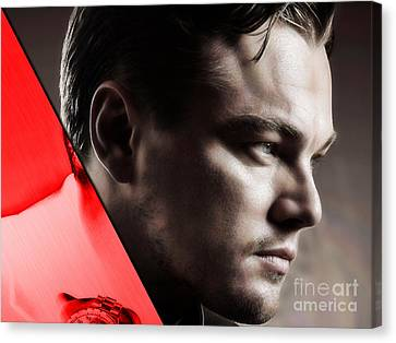 Movie Art Canvas Print - Leonardo Dicaprio Collection by Marvin Blaine