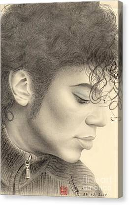 Michael Jackson #four Canvas Print by Eliza Lo