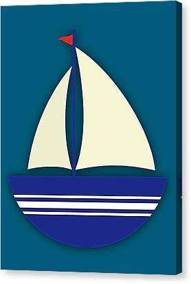 Sail Canvas Print - Nautical Collection by Marvin Blaine