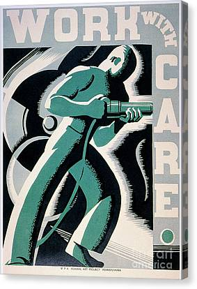 New Deal: Wpa Poster Canvas Print by Granger