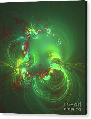 Fractal Geometry Canvas Print - Patterns Of Life By Rt by Raphael Terra