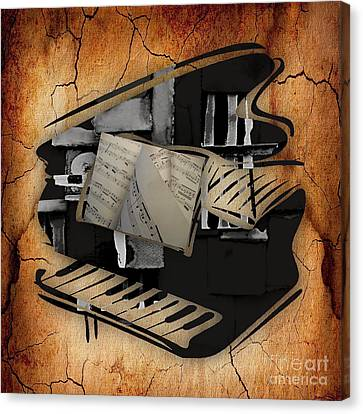 Piano Canvas Print - Piano Collection by Marvin Blaine
