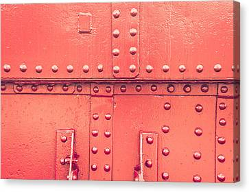 Industrial Concept Canvas Print - Red Metal by Tom Gowanlock