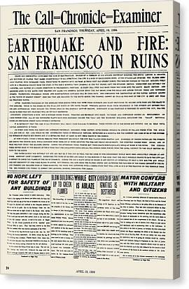 San Francisco: Earthquake Canvas Print