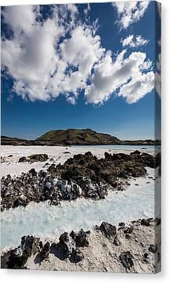 Silica Deposits In Water By The Canvas Print by Panoramic Images