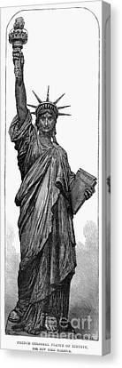Statue Of Liberty Canvas Print by Granger
