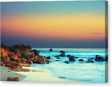 Water Scene Canvas Print - Sunset by MotHaiBaPhoto Prints