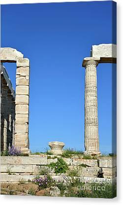 Temple Of Poseidon Canvas Print by George Atsametakis