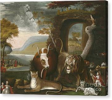 The Peaceable Kingdom Canvas Print by Edward Hicks