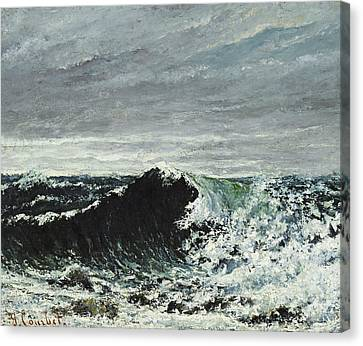 The Wave Canvas Print by Gustave Courbet