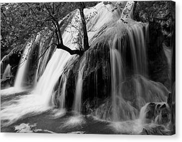 Turner Falls Canvas Print by Iris Greenwell