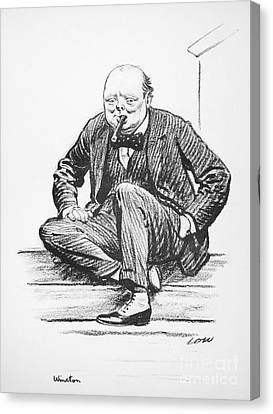Winston Churchill Canvas Print by Granger
