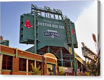 100 Years At Fenway Canvas Print by Joann Vitali