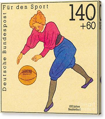 Basketball Collection Canvas Print - 100 Years Of Basketball by Lanjee Chee