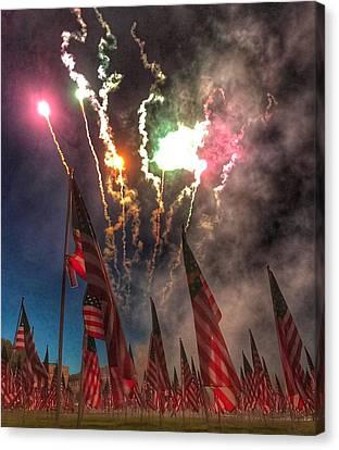 1,000-flag Charlestown Field Of Honor  Canvas Print