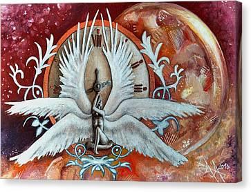 Seraphim Next To A Drop Canvas Print by Ramona Boehme