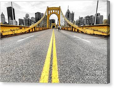 1008 Pittsburgh Pa Canvas Print by Steve Sturgill