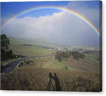 Sel Portrait Canvas Print - 100860 Rainbow In Hawaii by Ed Cooper Photography