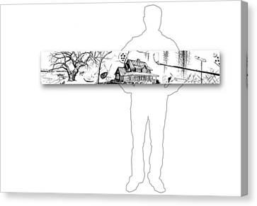 10.12.islands-4-horizontal-with-figure Canvas Print by Charlie Szoradi