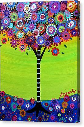 Tree Of Life Canvas Print by Pristine Cartera Turkus