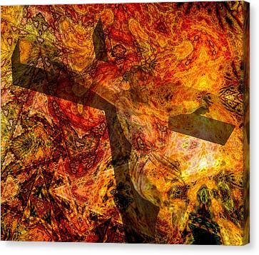God Canvas Print - Jesus Christ - Religious Art by Elena Kosvincheva