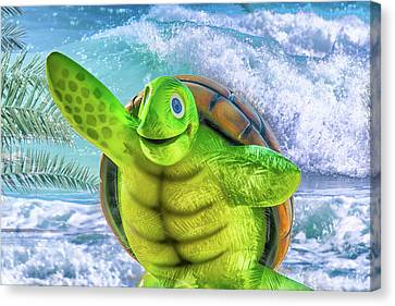10731 Myrtle The Turtle Canvas Print by Pamela Williams