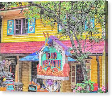 Store Fronts Canvas Print - 10767 Island Mercantile by Pamela Williams