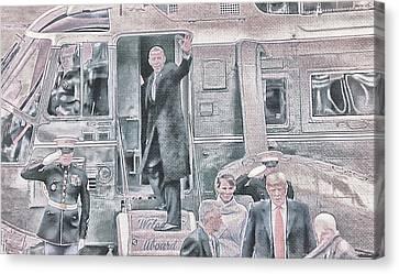 Barack Obama Canvas Print - 10782 Farewell Renegade by Pamela Williams