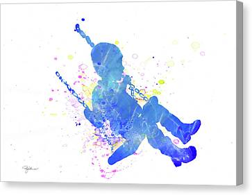 Schoolyard Canvas Print - 10828 Swing Time by Pamela Williams