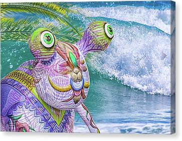 10859 Aliens In Paradise Canvas Print by Pamela Williams