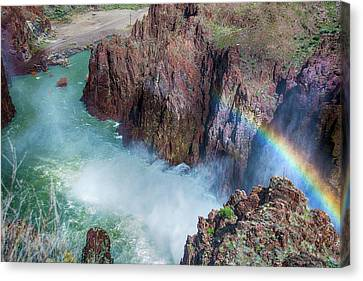 10883 Rainbow Over Owyhee Canvas Print by Pamela Williams