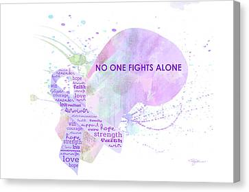 10969 No One Fights Alone Canvas Print by Pamela Williams