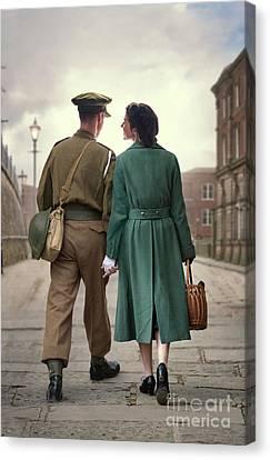 1940s Couple Canvas Print by Lee Avison