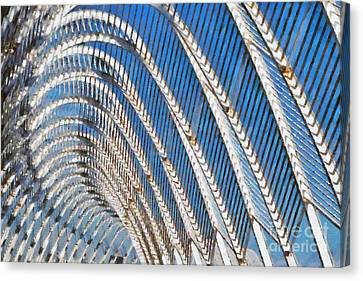 Walkway Canvas Print - Archway In Olympic Stadium In Athens by George Atsametakis
