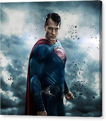 Batman V Superman Dawn Of Justice 2016  Canvas Print by Unknown