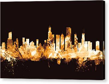 Chicago Illinois Skyline Canvas Print