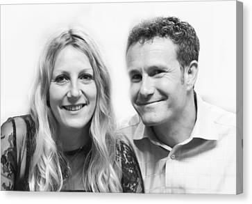 Chris And Jane Canvas Print by Steven Poulton