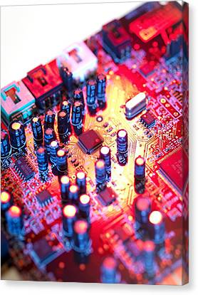 Circuit Board Canvas Print
