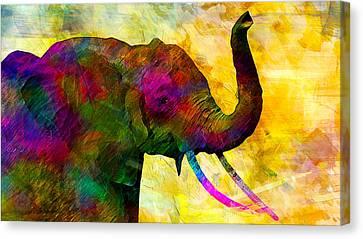 Elephant Canvas Print by Elena Kosvincheva