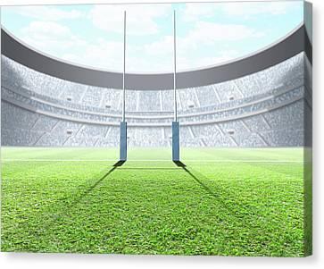 Floodlit Stadium Day Canvas Print