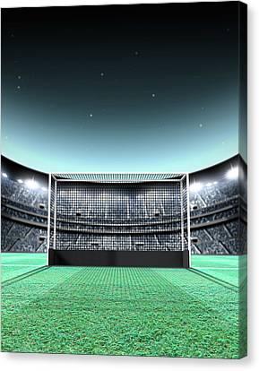 Floodlit Stadium Night Canvas Print by Allan Swart