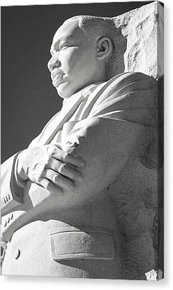 Martin Luther King Memorial In Washington Dc Canvas Print by Brandon Bourdages